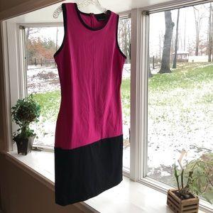🔥 Pink & Black, slim fitting dress. Hot hot